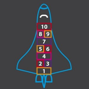 Rocket-Hopscotch-Outline