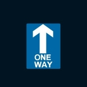 TMR018-One-Way-Sign